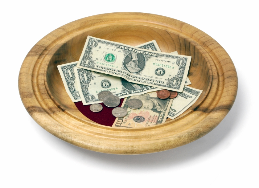 empty offering plate