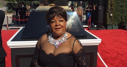 Shirley Ceaser showing too much cleavage