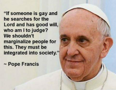 Popes speech