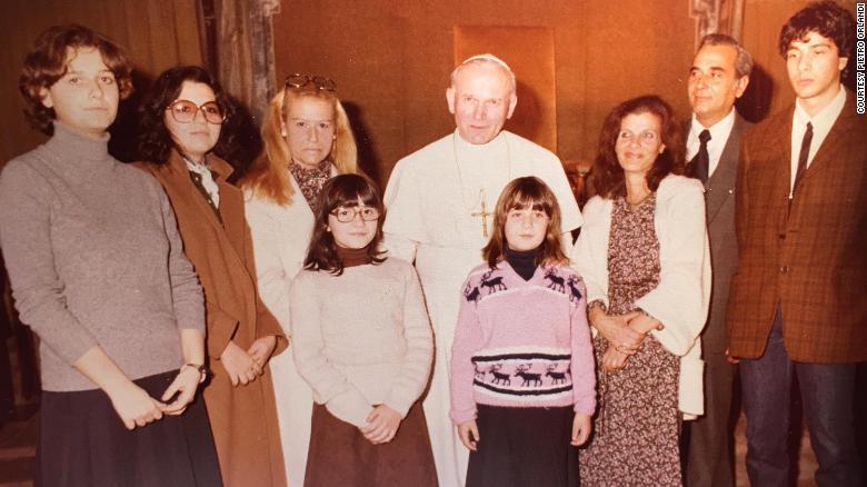Pope and Emanuela Oralndi