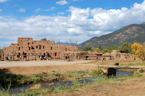 Taos Pueblo and River-500